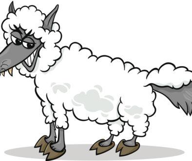 wolf in sheeps clothing cartoon