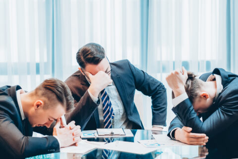 business failure bankruptcy stressed out managers