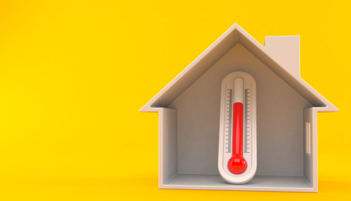 Thermometer inside house cross-section